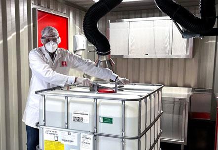 CO2 Gaslöschanlage Gefahrstofflager VS Logistics Dettelbach