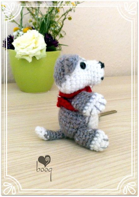 keyring amigurumi schlussel hund mini dog