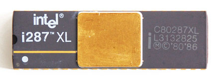 Intel C80287XL Front View