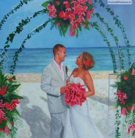 portrait-peinture-huile-marie-mariage