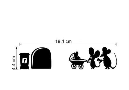 Plintsticker Kinderwagen € 4,95