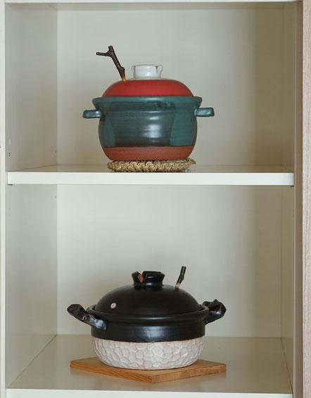 陶芸家 茨城県笠間市 土鍋 耐熱作品 作家物 デザイン 女性作家 遠赤外線調理 個性的 直火用