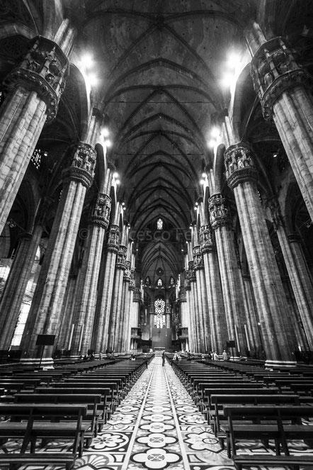 La navata centrale del Duomo