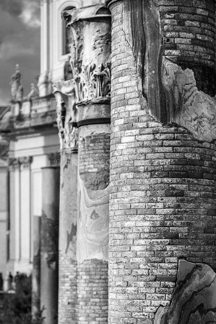 Colonne romane nel foro - Mercati di Traiano