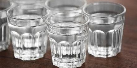 Glazen met water