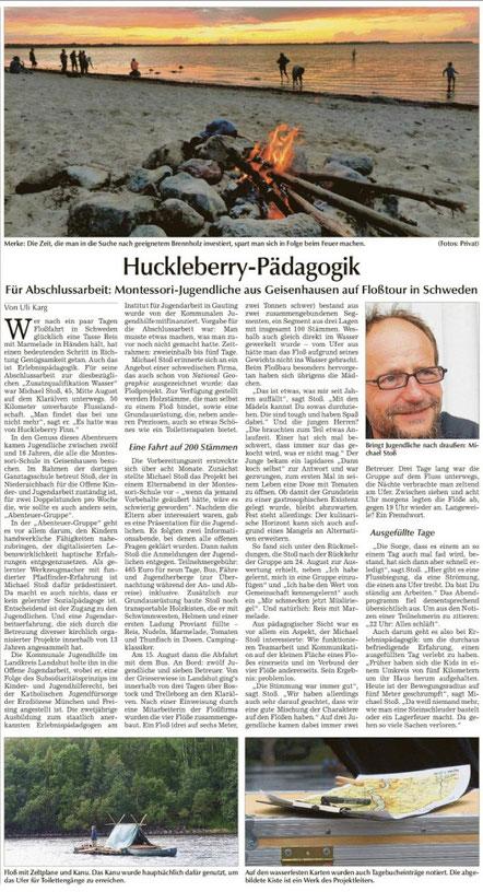 u. a. Hallertauer Zeitung vom 10.9.2014