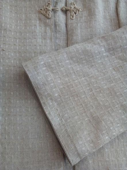 Détail d'une veste en lin