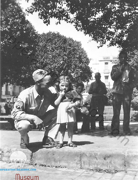 Clarence PALMER with a young girl somewhere in southern france.