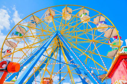 Greece Athens, Wheel carousel at luna park games Copyright Korpithas