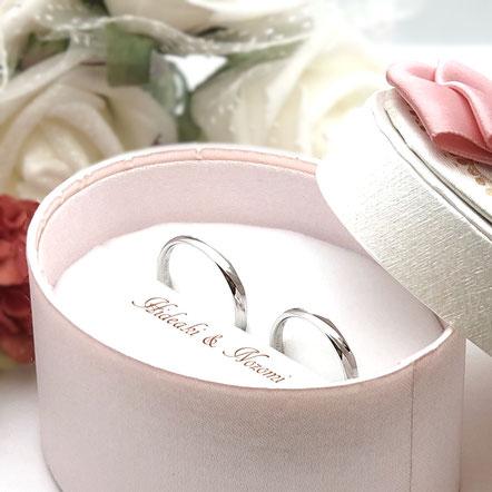 プラチナ:インセンブレ結婚指輪