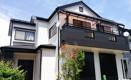 上尾市の戸建住宅、外壁塗装・屋根塗装工事完了の写真