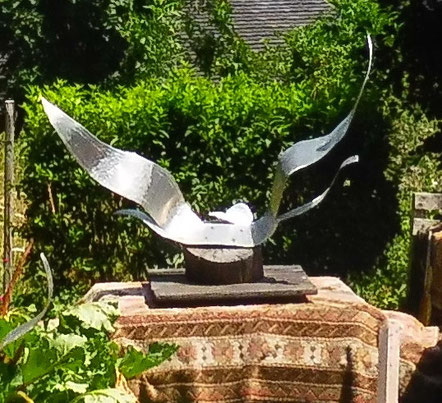 Décennie 2010 sculpture aluminium OISEAU