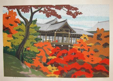 Shin hanga de Toshi Yoshida (??)  Tofukuji Temple in Kyoto