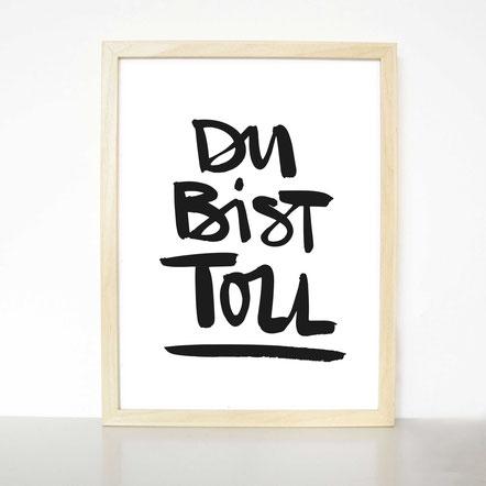 """Kunstdruck """"Du bist toll"""" GOLD EDITION"""