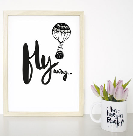"Kunstdruck ""fly away"""