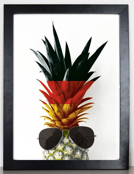"""Artprint """"cool Ananas"""" Deutschland Edition"""