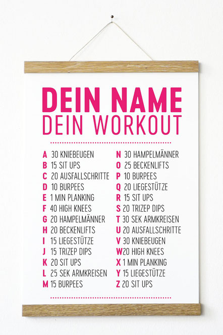 "Kunstdruck ""dein Name dein Workout"""