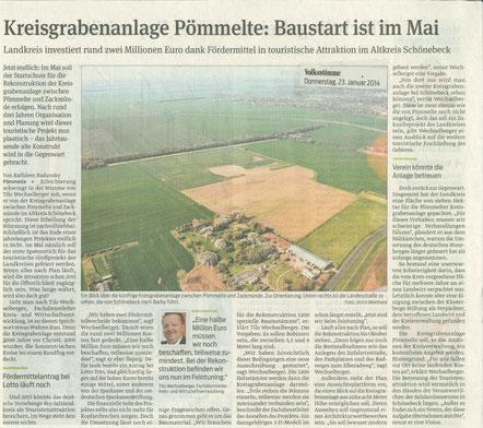 Baustart Kreisgrabenanlage 05-2014 geplant