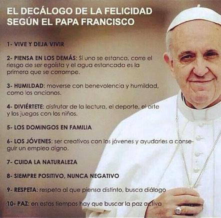 Decálogo del Papa Francisco