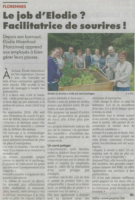 Article de l'Echo Mettet