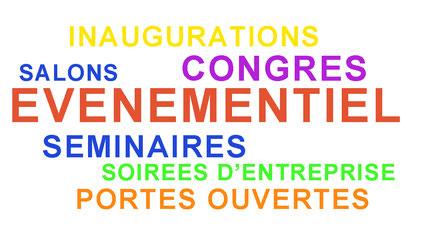 salons, congrès, séminaires, portes ouvertes, inaugurations, soirées d'entreprise