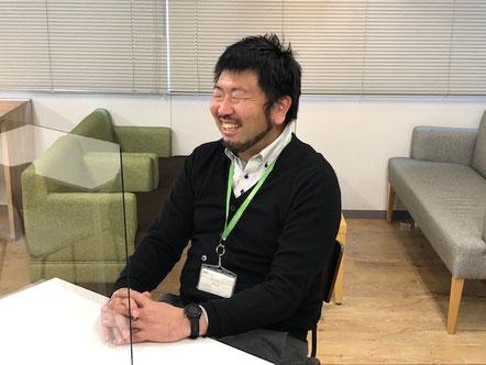 素敵な笑顔でインタビュー♪