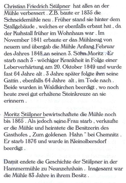 Bild: Teichler Stülpner Wünschendorf Erzgebirge Neunzehnhain