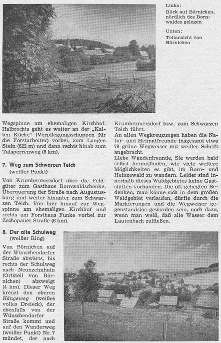Bild: Teichler Wünschendorf Erzgebirge Bornwald Heinzewald