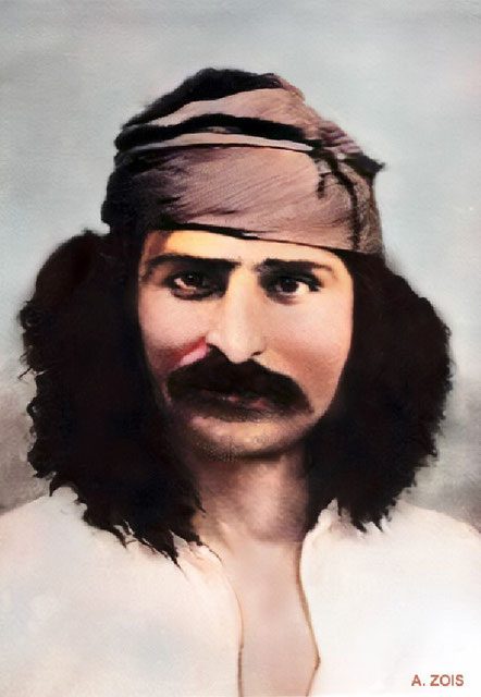 1920s - Meher Baba. Image colourized by Anthony Zois.