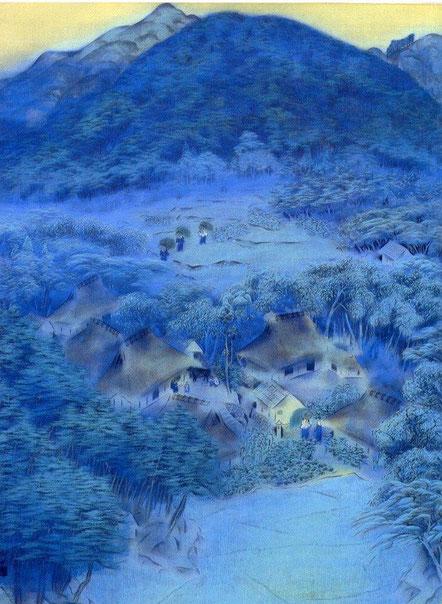 """Hayami Gyoshu, """"Villaggio a Shugakuin""""(1918)"""