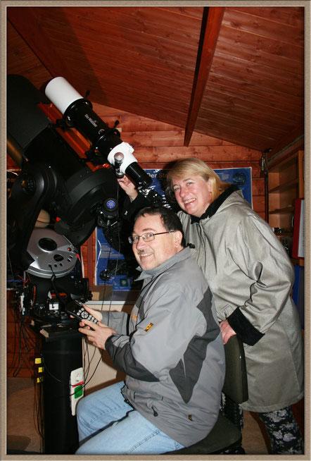 "Irene und Robert Meixner - am ""Arbeitsplatz""   MeixnerObservatorium"
