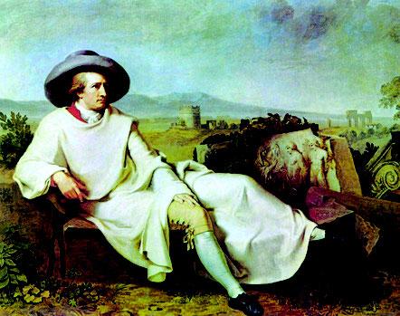 """Johann Heinrich Wilhelm Tischbein """"Goethe in der Campagna"""" von 1787"""