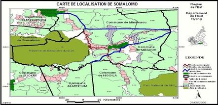 Plan de localisation de la Commune de Yokadouma
