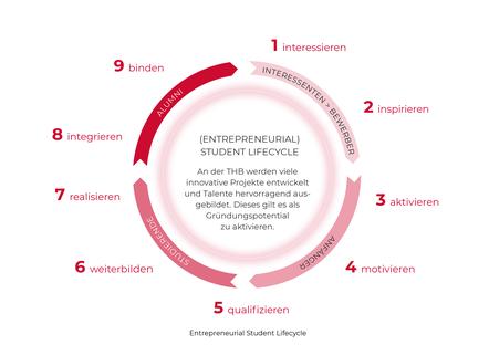 Angebot des Gründungscampus: der komplette (Entrepreneurial) Student Lifecycle©