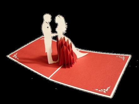 Carte 3D Heureux mariés