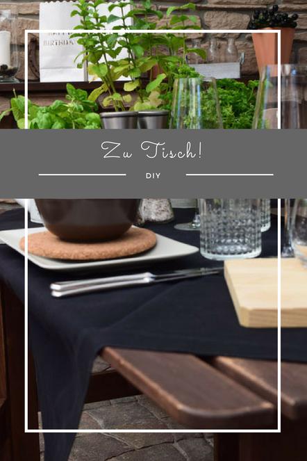 Eine einfache und tolle, mediterrane Tischdekoration für Sommerfeste und Grillpartys.