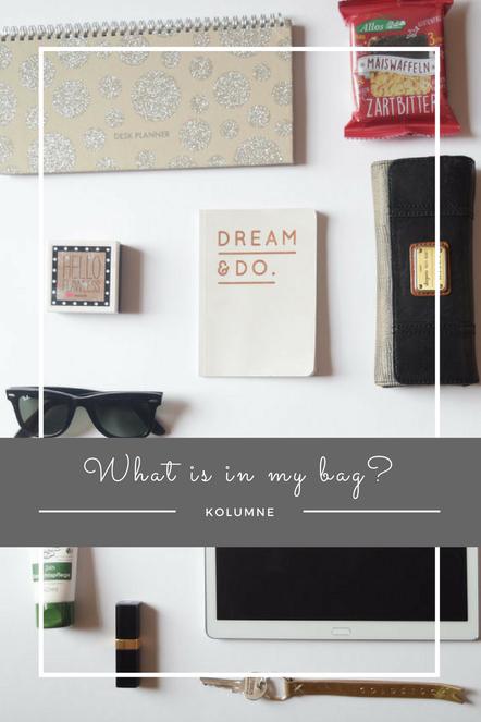 What's in my bag? - Meine täglichen Begleiter in meiner Handtasche, wie Geldbeutel, Gesichtspflege und Tablett.