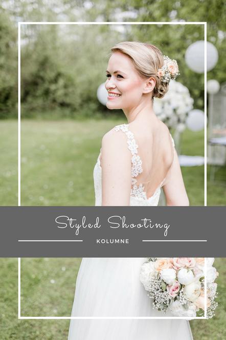 Ein Styled Shooting für eine Gartenhochzeit - mit einem wunderschönen Hochzeitskleid, tollen Hochzeitsdienstleistern und Tipps für eine unvergesslich schöne Tischdekoration.