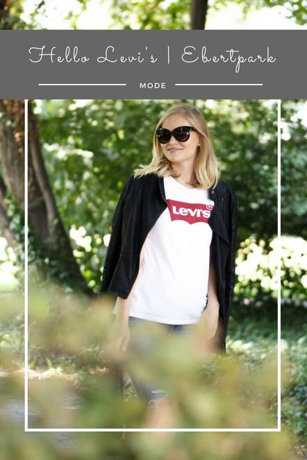 Ein tolles Streetstyle Outfit mit einem Levi's Shirt. Diese Logoshirts sind der Trend des Jahres.