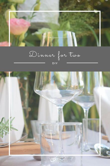 Zu Gast bei der Mohnblume in Oppau und ein toll gedeckter Tisch für das nächste romantische Candlelight Dinner für zwei draußen im Garten.