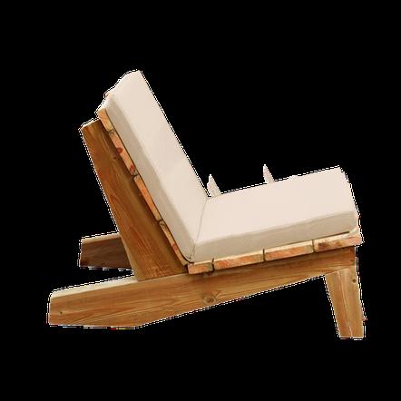 canapé bois et matelas