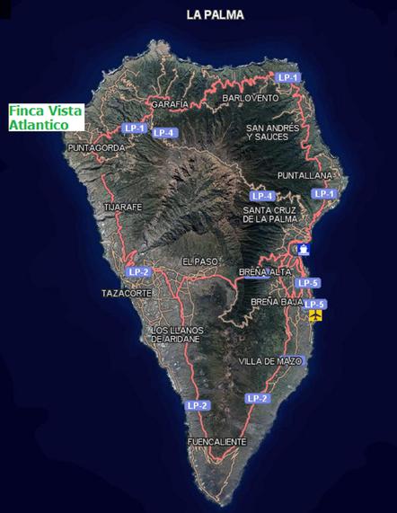 Puntagorda befindet sich zwischen Garafia und Tijarafe