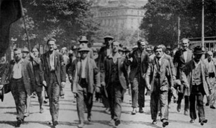 Arbejderdemo som politiet skød imod, Wien juli 1927