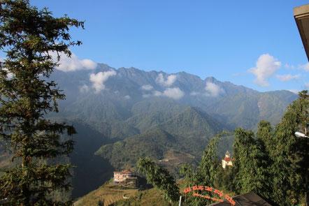 Au réveil, vue depuis notre balcon...magique !