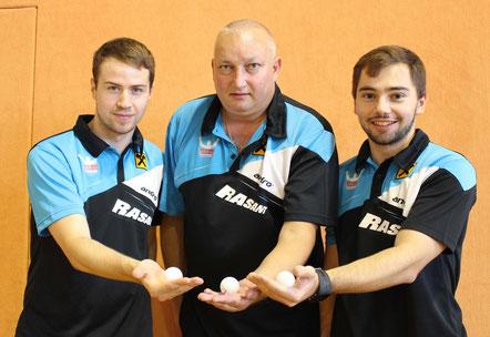 Martin Kinslechner, Tomas Janci und Michael Kufmüller sind Allianz Sierndorf/1.