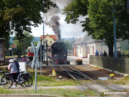 Das kleine idyllische Bw Gernrode an der Selketalbahn