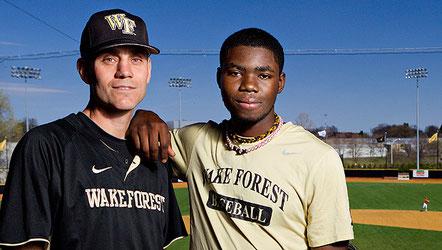 Nella foto a sx il coach Tom Walter e Kevin Jordan
