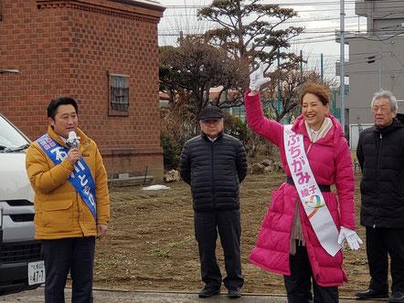 石川さんの右に見えるが頼れる後援会会長上田さん。ダンディですね。わたしの右横に市橋幹事長の姿が!