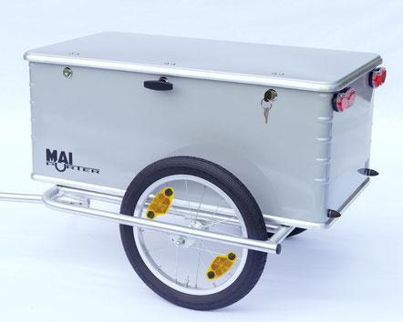 Fahrradanhänger für Lasten mit Aluminiumbox Maiporter ZX130
