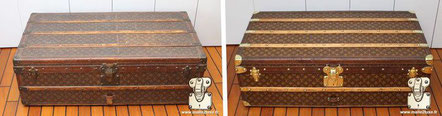 Louis Vuitton Cabin Trunk from  1906 cabin trunk, stenciled mongram canvas mark I